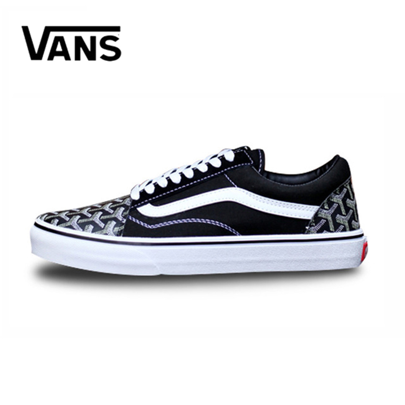 Original New Arrival Vans Men's Classic Old Skool Low-top Skateboarding Shoes Sneakers Sport Canvas Comfortable Skateboard original new arrival van classic unisex skateboarding shoes old skool sport outdoor canvas comfortable sneakers vn000d3hw00