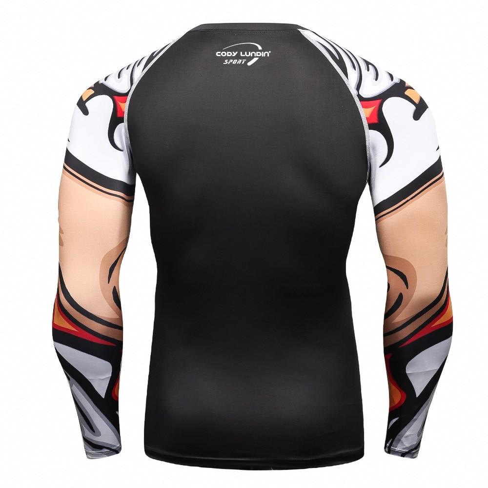 2017 καλοκαιρινό φθινόπωρο Men Cody Lundin συμπίεσης T πουκάμισα με μακρύ μανίκι στρώμα βάσης Bodybuilding Καλσόν Tops & Tees