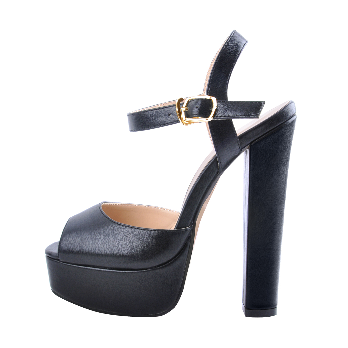 New Women/'s Ankle Strap Chunky Pump High Heel Sandals Party Dress Open Toe Shoes