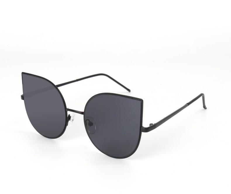 69a956082b0 Sunglasses 2017 Brand New Cat Eye Women Fashion flat lens Ultra Thin Light  metal women Deagin luxury Men Sun Glasses SOJOS 1022