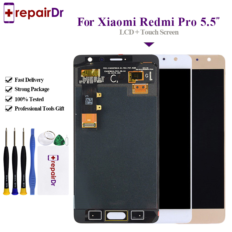 Original Lcd 5 5 For Xiaomi Redmi Pro LCD Screen Display Touch digitizer Assembly With Frame