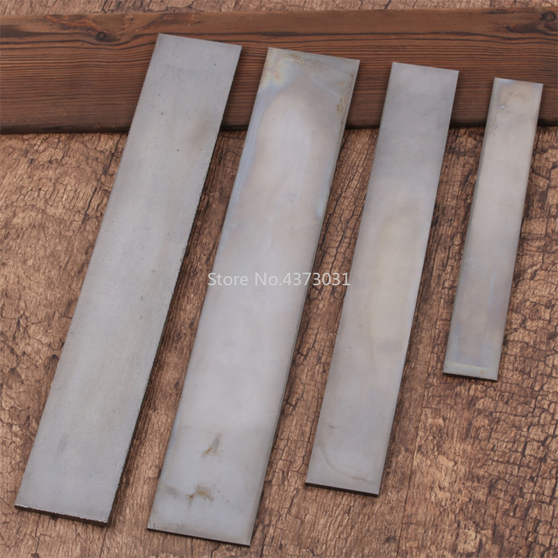 1Piece Sweden 1428 Steel Knife Blade Steel Plate Low Carbon Bouncy Surface Polishing Heat Treatment