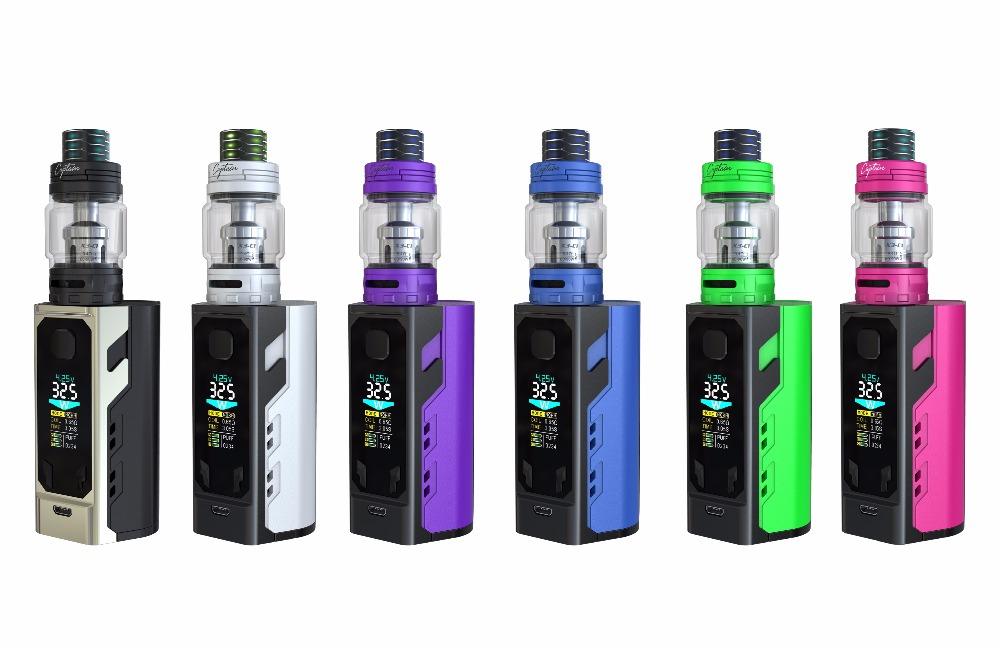 Original IJOY Captain X3 kit 324W 20700 TC e cigarette Kit with three 21700 batteries and captain X3 sub ohm tank