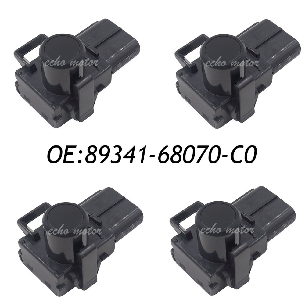New 4PCS Wireless Car Parking Sensor 89341-68070-C0 89341-68070 For Toyota Black Color 188300-2260 new set 4 89341 0c010 42342 parking ultrasonic sensor for toyota tundra 2014 2015 left right 0c010 42342