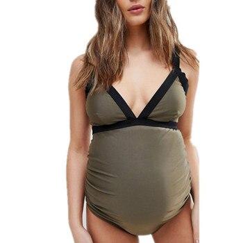 Maternal Swimwear Premaman One Piece Women 2020 Sport Swimsuit Plus Size Female Bathing Suit Beach Monokini Swim Wear Beachwear