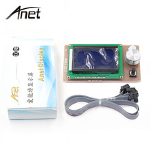 Anet A6 12864 LCD Smart Display Screen Controller Module with Cable for RAMPS 1.4 Mega Pololu Shield Reprap 3D Printer Accessory