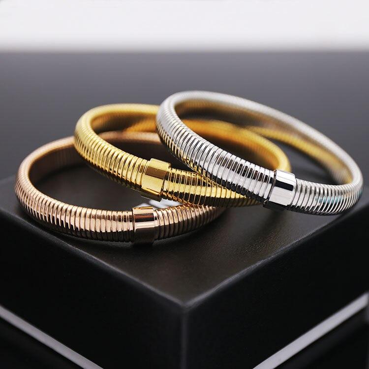 Tyme Fashion Bracelet Stainless Steel H Bracelets & Bangles Gold Color Screw Love Bracelet For Women Men jewlry