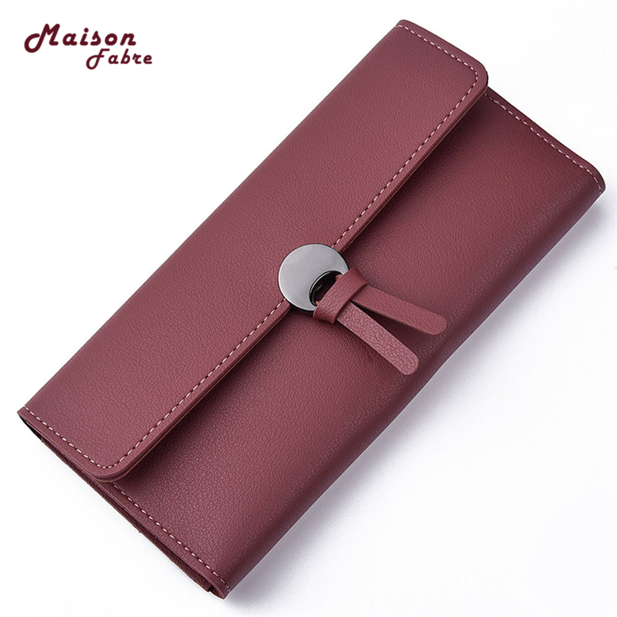 Latest Women PU Leather Zipper Wallet Fashion Lady Portable Multifunction  Solid Color Change Purse Hot Female Clutch  2017 #23 new women fashion leather hasp tri folds wallet portable multifunction long change purse hot female coin zipper clutch for girl