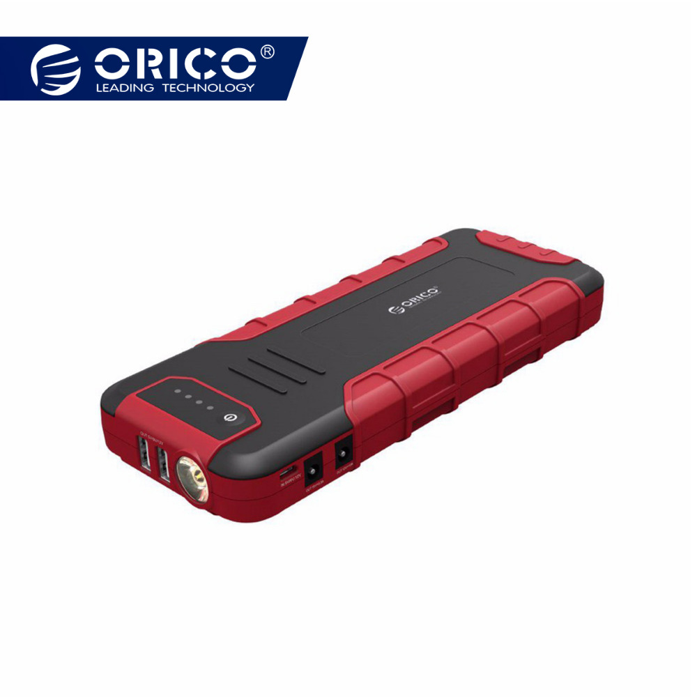 ORICO Multi-fonction Mini Démarreur Voiture De Saut Booster batterie externe 18000 mAh QC3.0 chargeur de batterie Pour 12 V 10A 19 V 3.5A