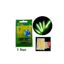 5Pcs/Lot 30g EVA Fishing Float + 10pcs Glow Stick Green Luminous Float Lighting Foam Floats For Night Fishing Tackle