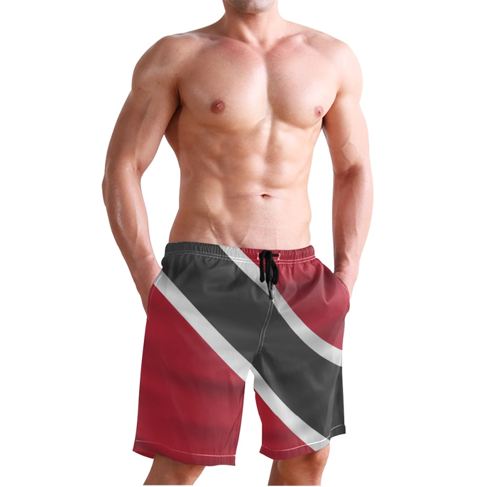 070daa76c0076 Trinidad And Tobago Flag Man Swimming Trunks Surf Shorts Men Bermuda Surf  Men's Sportswear Beach Short Men Brands Swimsuit-in Surfing & Beach Shorts  from ...