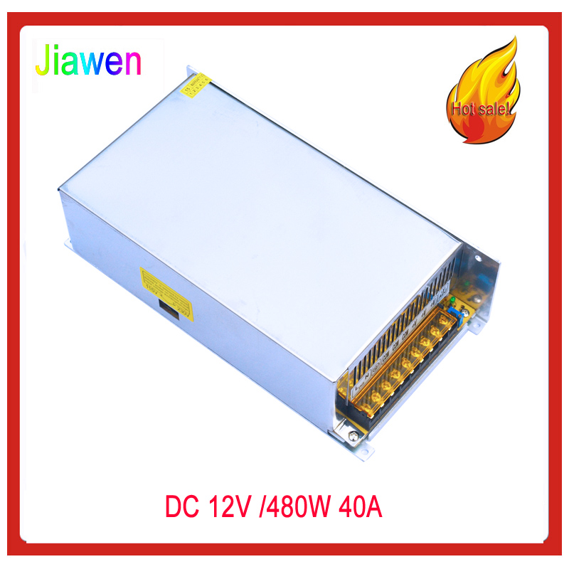 цена на AC 110V/ 220V to DC 12V 40A 480W Voltage transformer Switching power supply for strip free shipping