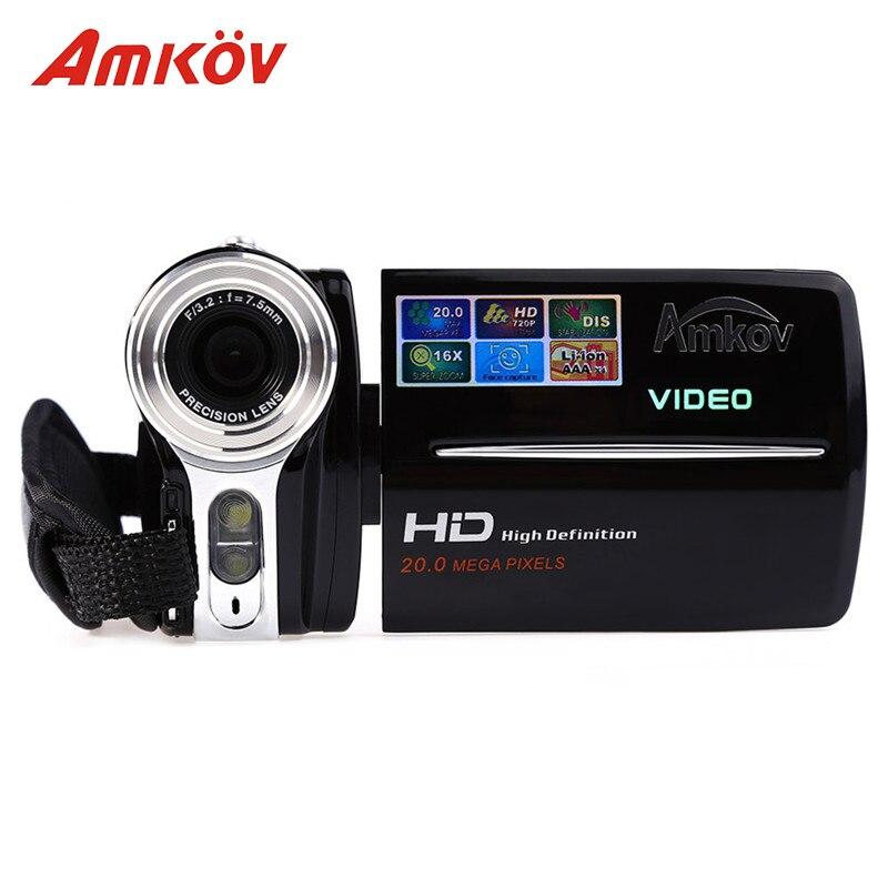 Amkov AMK-DV164 Digital Cameras Professional Camera 3 720P 20MP 20*16.2*12.2 cm Digital Zoom Video DV Video Camera HD Camera