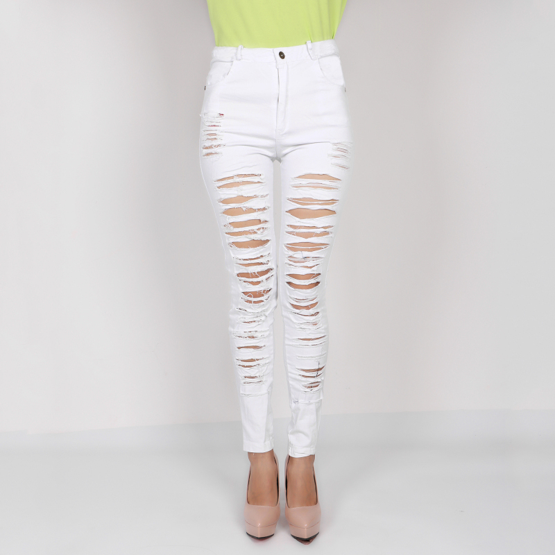 Aliexpress.com : Buy Denim Ripped Jeans For Women Sexy Skinny ...
