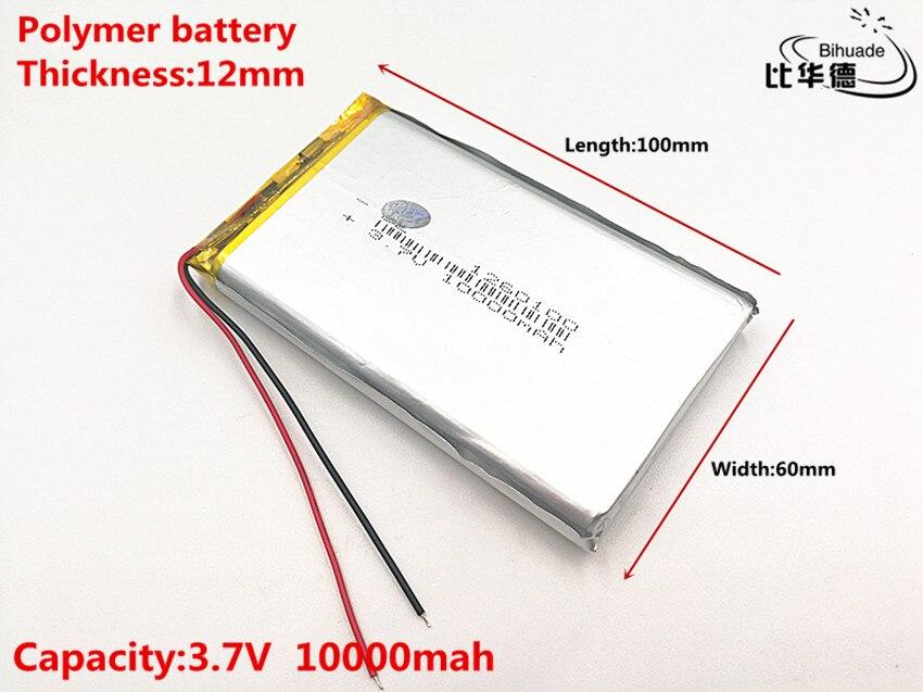 Bonne qualité 3.7 V, 10000 mAH, 1260100 polymère lithium ion/Li-ion batterie pour jouet, batterie externe, GPS,