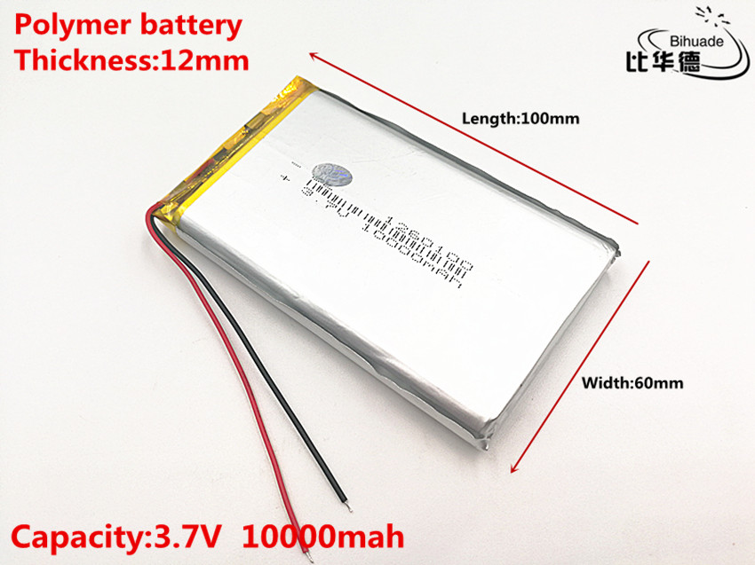 Good Qulity 3.7V,10000mAH,1260100 Polymer lithium ion / Li-ion battery for TOY,POWER BANK,GPS, portable mobile lithium polymer 3500mah lithium polymer power bank silver