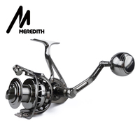 MEREDITH Super Machining Rotor and Spool Stainless Steel Shaft Hardened Steel Gear Aero grade Aluminum Fishing Reel 30kg Drag