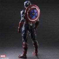 270mm PVC Play Arts Kai The Avengers Toys Captain America Action Figure 1 6 Figama Civil