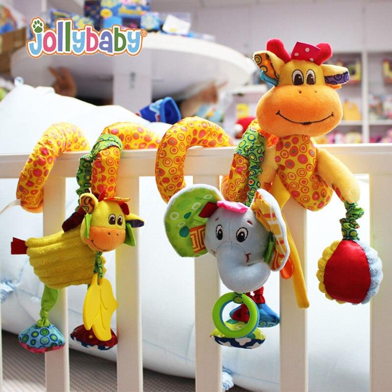 Baby Plush Rattle Crib Spiral Hanging Mobile Infant Stroller Bed Animal Toys Gift For Newborn Children 0-12 Months Happy Monkey #2