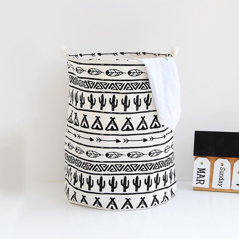 45# 2019 Home Simple Foldable Laundry Clothes Storage Bucket Bin Hamper Basket Organizer Convenient