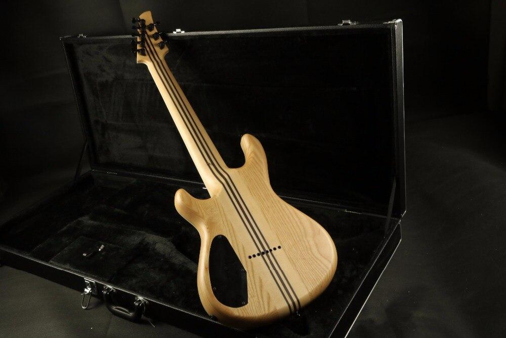 Stock haute qualité 8 cordes guitare électrique cou à travers le corps 5 pièces finition lasure bois 24F verrouillage accordeur Daddario cordes couette M - 6