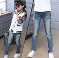 2016 retail girl's spring & autumn jeans kids Slim jeans children jeans children spring pants girl's jeans trousers for 5-14T