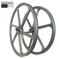 BIKEDOC Mountain Bike Carbon 6 Spoke Wheel 26er Carbon Mtb Wheel 650b And 29er Mtb Bicycle Wheel