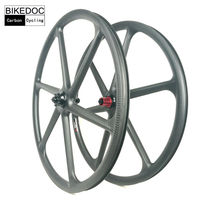 BIKEDOC Mountain Bike Carbon 6 Spoke Wheel 26er Carbon Mtb Wheel 650b And 29er Mtb Bicycle Wheel