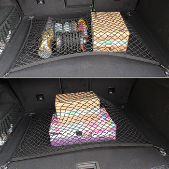 Adjustable 70*110 CM Universal Car Trunk Luggage Storage Cargo Net - Universal Stretchable Truck Net with 4 Hooks