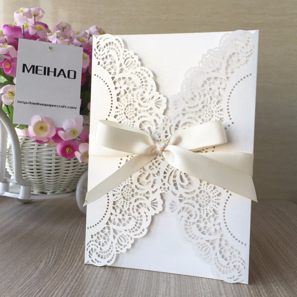 12pcs/lot Wedding Invitations Cards Personalized Laser Cut ...