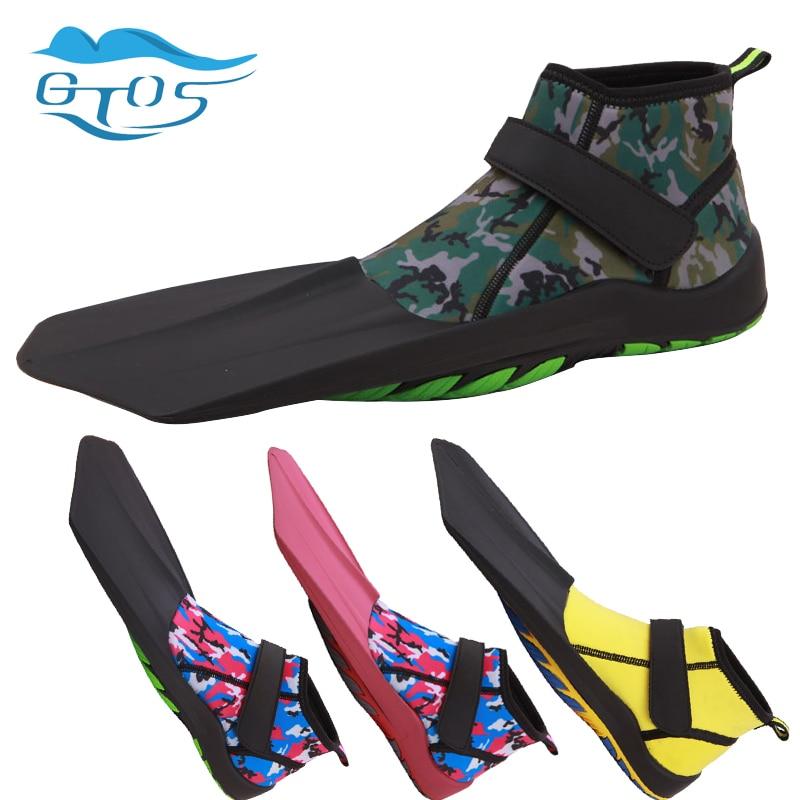 Snorkel Fins Topside Compact Travel Swim and Snorkeling Flippers for Men Women diving swim fins neoprene