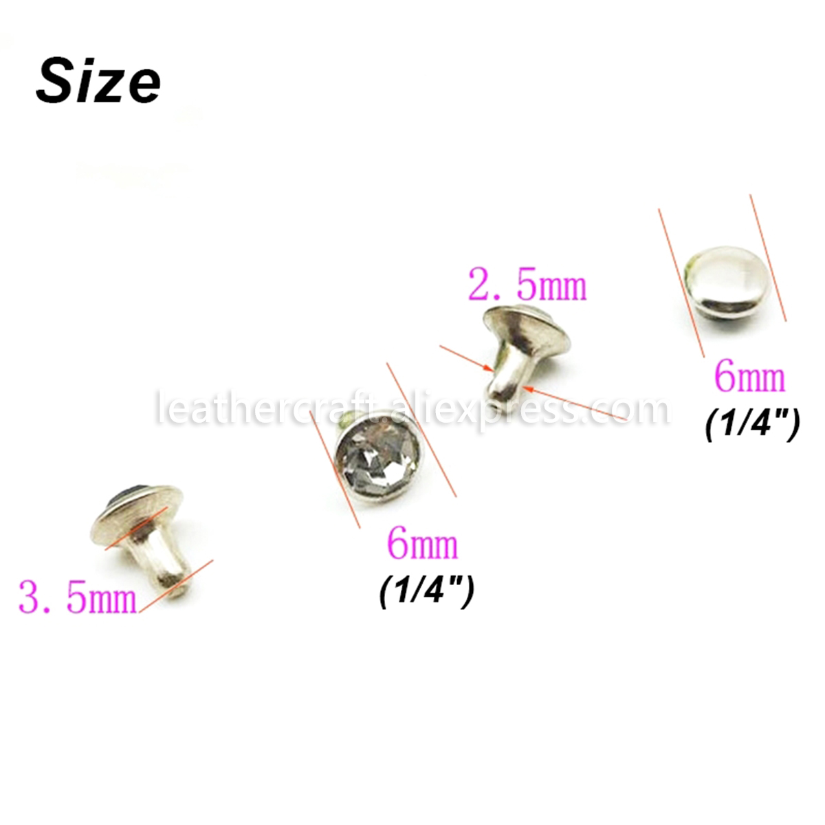 6mm Black Gem crystal Rivet Studs,Single Cap Marble Synthetic rivets,Fashion Studs leather Purse Decoration rivets,handbag rivets hardware