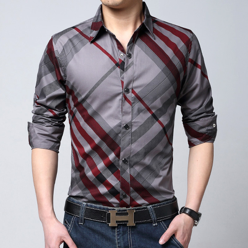 Buy 2016 spring brand striped shirts men for Mens designer casual shirts sale