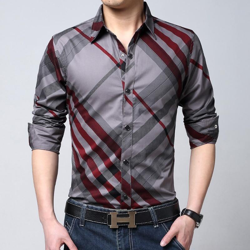 Buy 2016 Spring Brand Striped Shirts Men