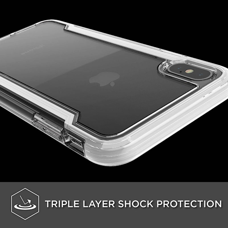 X-Doria Defense Clear Shock Protection Military Grade Drop Protection Clear Protective Case for iPhone Xs Max Black iPhone Xs Max Case 6.5 Inch Screen