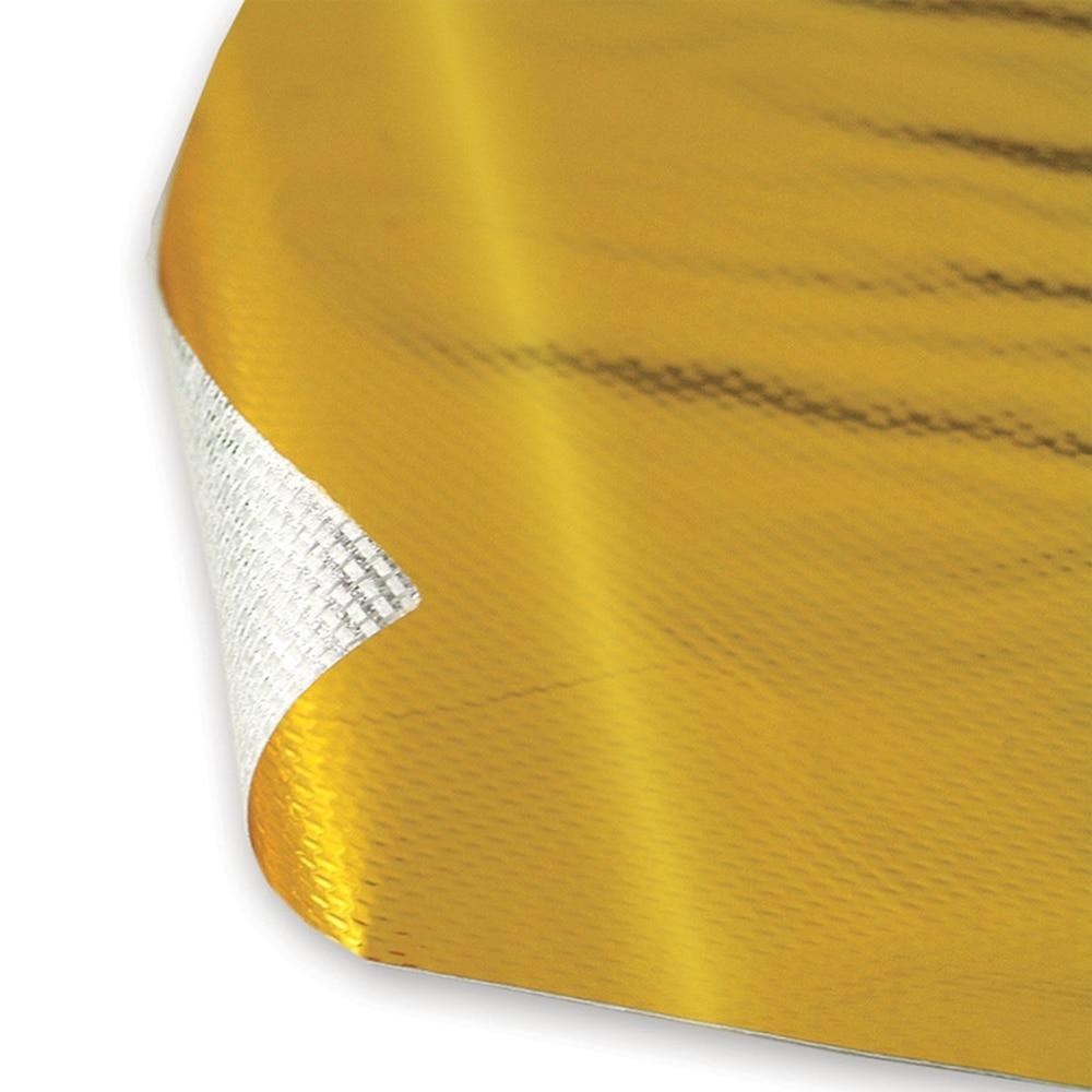 2PCS Gold High Temperature Heat Shield Roll Self Adhesive Reflective Wrap Tape