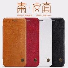 NILLKIN QIN Series Leather Case For HTC Google Pixel/Pixel XL Genuine Leather Flip Wallet bags Cover Cases For Google Pixel XL