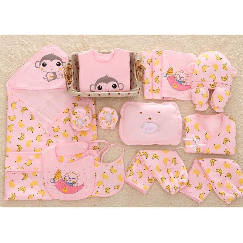 Monkey Print Newborn Baby Girl Boy Clothes Set Cotton Cartoon Baby Winter Outfits 12/17/18 Pcs/Set