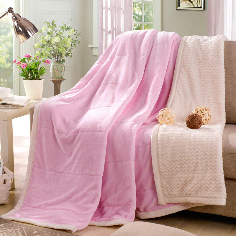 Home textile flannel Blanket super warm soft fleece blandets double layer throw on Sofa/Bed/Plane Travel Plaids Solid Bedspreads zhh warm soft fleece strip blankets double layer thick plush throw on sofa bed plane plaids solid bedspreads home textile 1pc