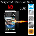 2.5D 9H High Quality Protective Premium For HTC One M8 / M8s Tempered Glass Film For HTC M8 M8s M 8 Glass Dual Sim
