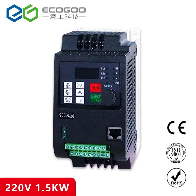 VFD 1.5KW 8A ECOGOO frequency converter 3P 220V output Free Shipping free shipping 50pcs bt137 600e bt137 600 bt137 triacs logic level 600v 8a