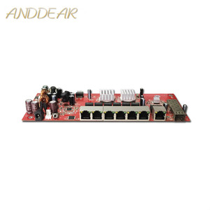 Image 1 - Industrial switch module 9 port gigabit SFP switch module support AF/AT  wifi bridge  outdoor cpe  network switch 1000mbps