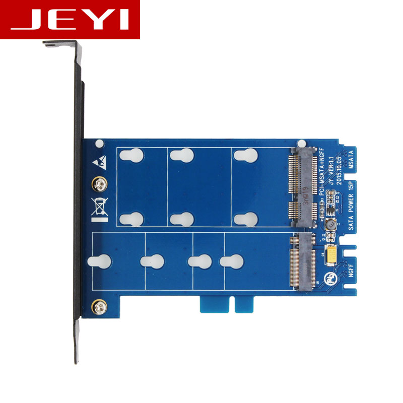 JEYI SK3 M.2 NGFF to SATA and mSATA TO SATA3 adapter card dual interface two with conversion card SSD adapter card