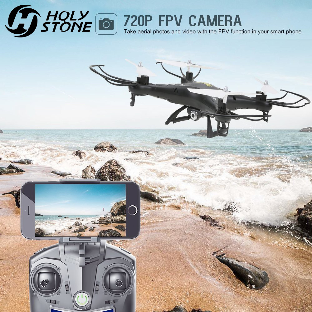 Holy Stone HS110 FPV RC Drone with Camera RC Helicopter 720P HD Live Video WiFi 2.4GHz 4CH 6-Axis Gyro Altitude Hold Quadcopter mjx x906t mini rc drone 6 axis gyro quadrocopter rc fpv drone helicopter hd camera wifi mando remote control copter toy