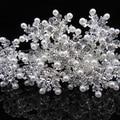 20 Pcs Snowflake Pearl Crystal Bridal Wedding Prom Hair Pins Hair Accessory A-66