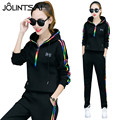 Plus Size S-XXXL 2017 Spring Autumn Women 2 piece Clothing Set Casual Fashion Hoodies Sporting Suits Ladies Tracksuit