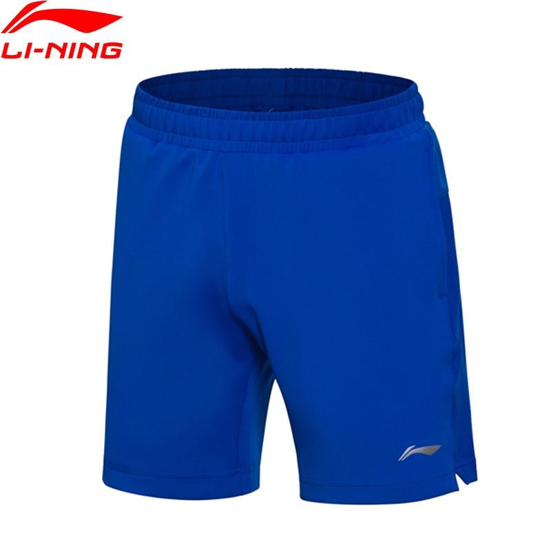 Li-Ning Для мужчин Шорты для бадминтона сплошная конкуренция дно в сухом Regular Fit комфорт дышащий подкладка Спортивные шорты AAPM149 Q169