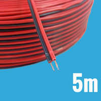 5M Electronic Electrical Copper Rubber LED Wire Cable Red Black 2Pin Insulated Extend Cord Car Audio Cable Speaker Wire Cable