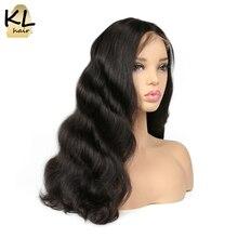 250% كثافة الجسم موجة الدانتيل الجبهة خصلات الشعر المستعار الإنسان للنساء السود اللون الطبيعي البرازيلي شعر ريمي شعر مستعار مع شعر الطفل KL الشعر