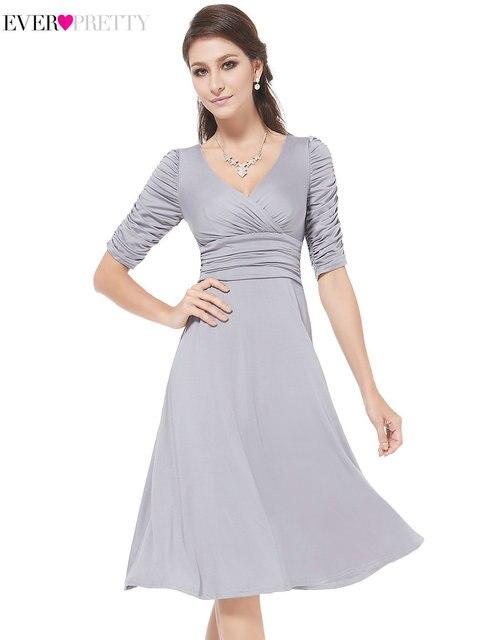 749edca2ca7 2018 Women s Elegant Knee Length Mother of the Bride Dresses Ever Pretty  HE03632 New Wedding Party Dresses